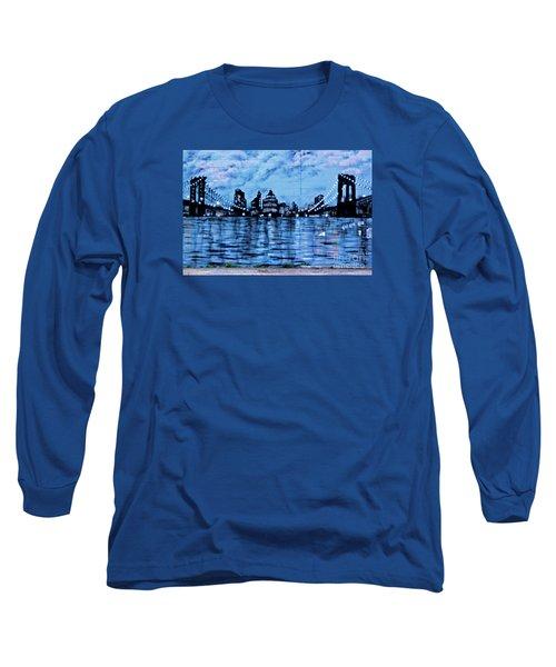 Bridges To New York Long Sleeve T-Shirt