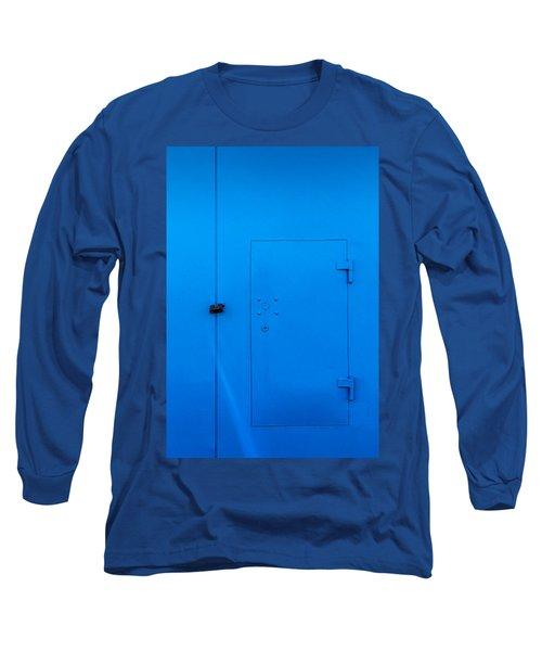 Bright Blue Locked Door And Padlock Long Sleeve T-Shirt