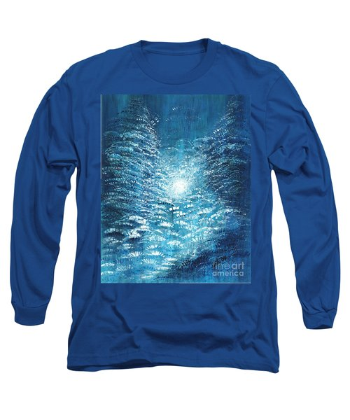 Long Sleeve T-Shirt featuring the painting Brite Nite by Holly Carmichael