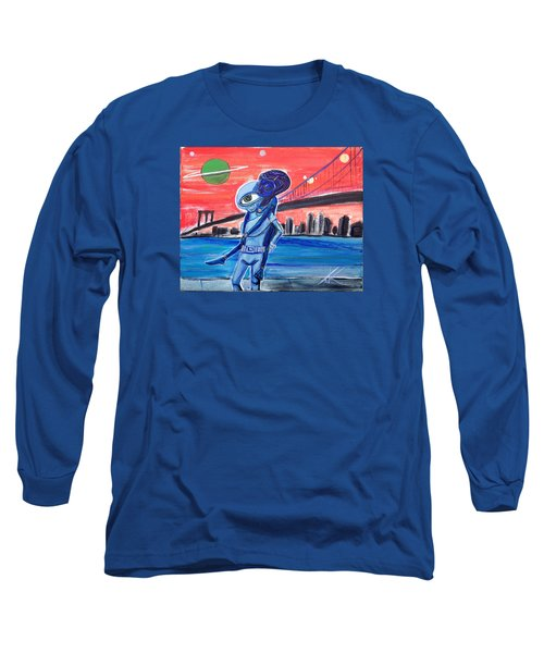Brooklyn Play Date Long Sleeve T-Shirt by Similar Alien