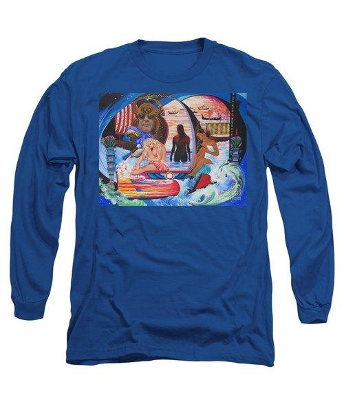Blaa Kattproduksjoner     Two  Godessess Enjoying  The Nile Spa Long Sleeve T-Shirt