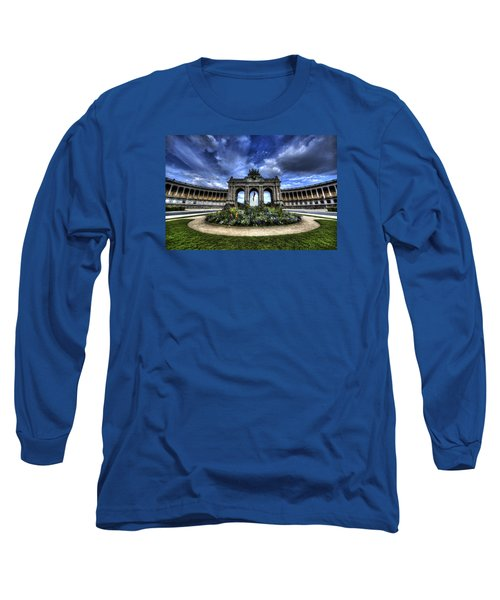 Long Sleeve T-Shirt featuring the photograph Brussels Parc Du Cinquantenaire by Shawn Everhart