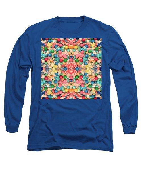 Long Sleeve T-Shirt featuring the digital art Bubble Gum #9776 by Barbara Tristan