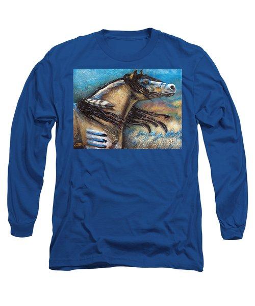 Buckskin Bell Blues Long Sleeve T-Shirt