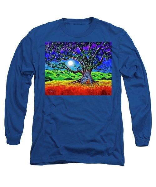 Buddha Healing The Earth Long Sleeve T-Shirt by Laura Iverson
