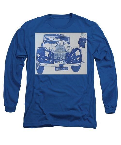 Long Sleeve T-Shirt featuring the drawing Bugatti by Mike Jeffries