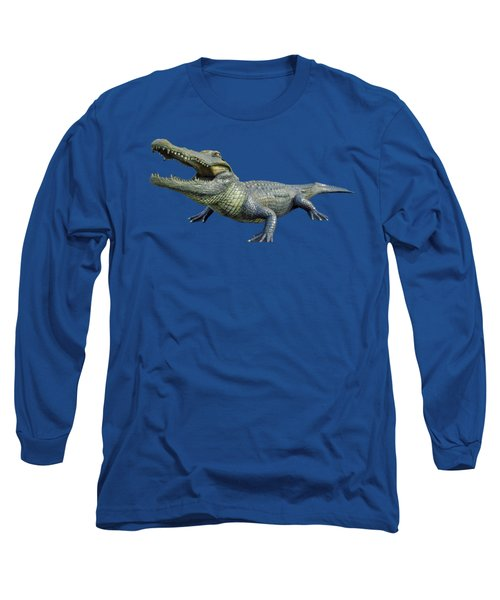 Bull Gator Transparent For T Shirts Long Sleeve T-Shirt by D Hackett