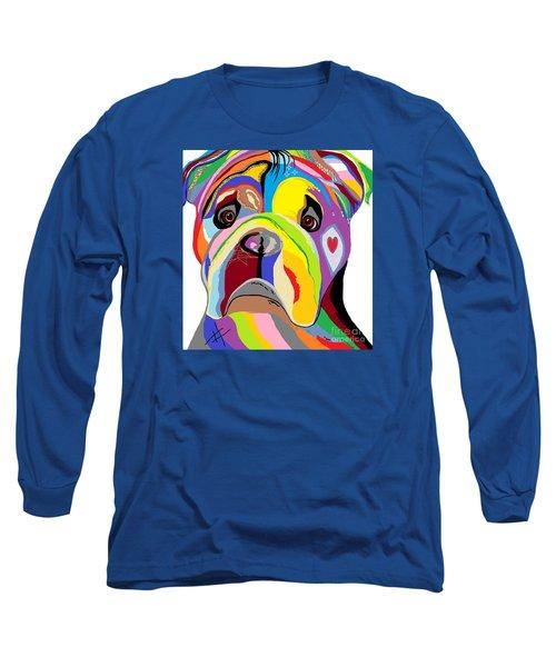 Bulldog Long Sleeve T-Shirt by Eloise Schneider