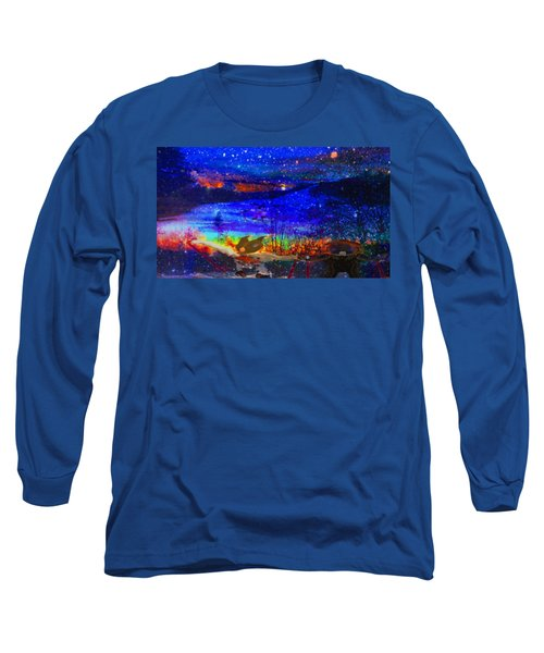 Bunnies At The Slopes Long Sleeve T-Shirt by Mike Breau