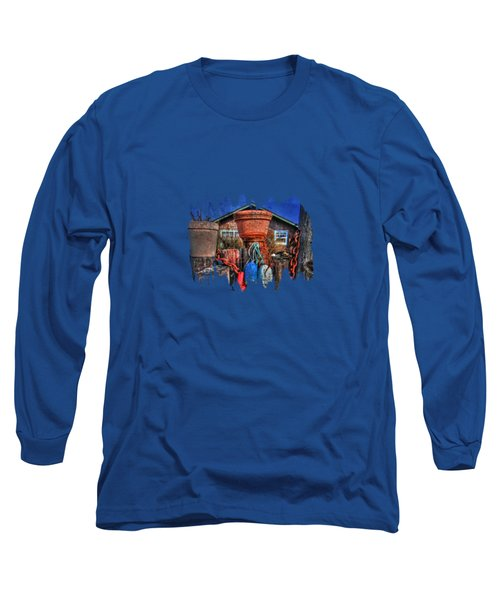 Buoys Chains And Pots Long Sleeve T-Shirt by Thom Zehrfeld