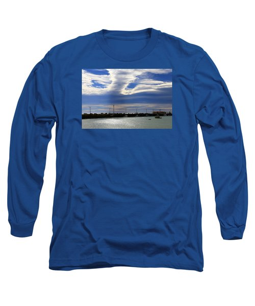 Long Sleeve T-Shirt featuring the photograph Busy Day At The Wharf by Nareeta Martin