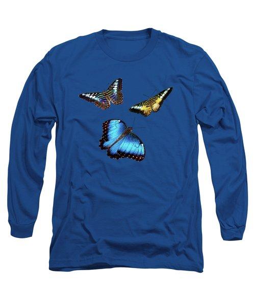 Butterflies Long Sleeve T-Shirt by Phyllis Denton