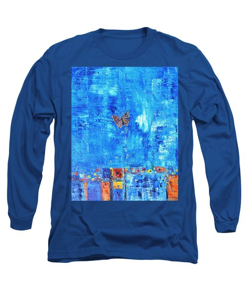 Butterfly In The Wind Long Sleeve T-Shirt