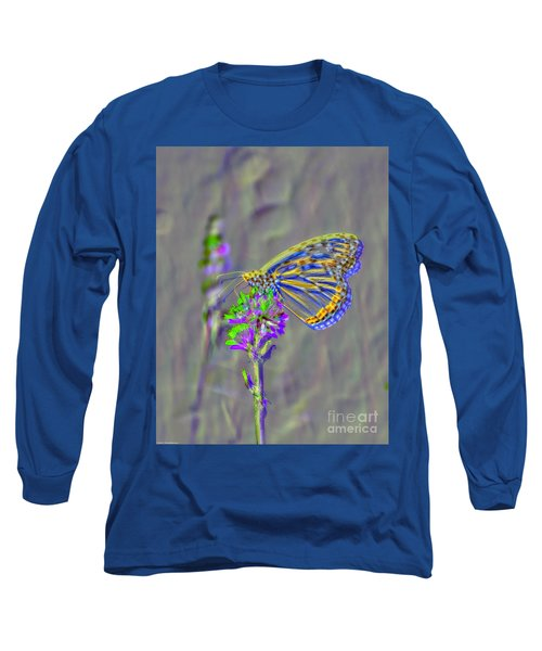 Long Sleeve T-Shirt featuring the photograph Butterfly Study by Mitch Shindelbower