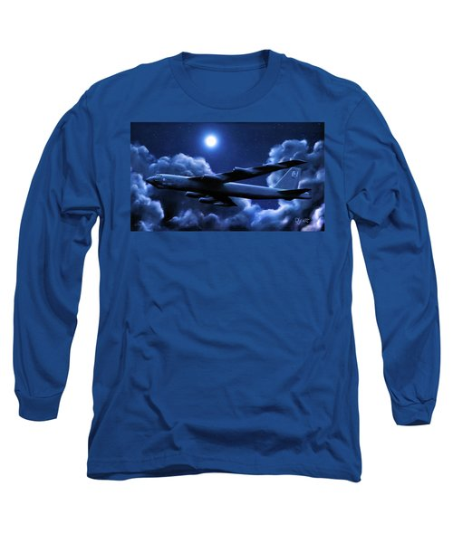 By The Light Of The Blue Moon Long Sleeve T-Shirt by Dave Luebbert