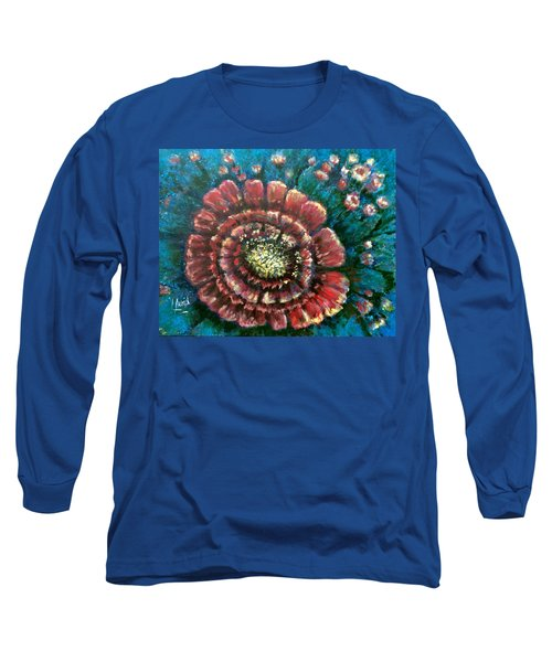 Cactus # 2 Long Sleeve T-Shirt by Laila Awad Jamaleldin
