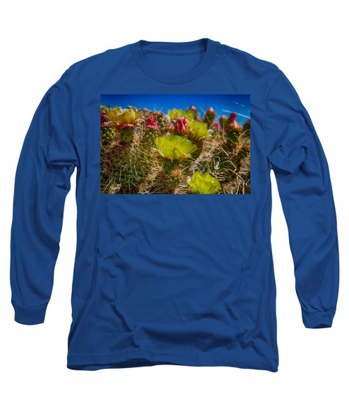 Cactus At The End Of The Road Long Sleeve T-Shirt by Bartz Johnson