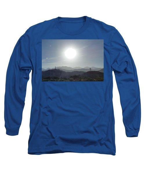 Cajon Pass Sunset Long Sleeve T-Shirt by Karen J Shine
