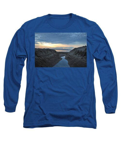 California Beach Stream At Sunset - Alt View Long Sleeve T-Shirt