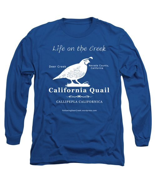California Quail - White Graphics Long Sleeve T-Shirt