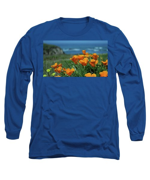 California State Flower - The Poppy Long Sleeve T-Shirt