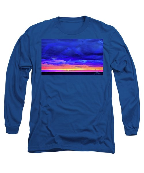 Long Sleeve T-Shirt featuring the painting California Sunrise by Joan Reese