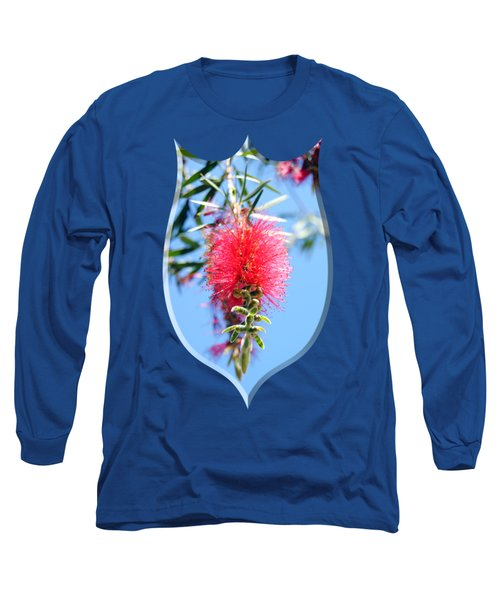 Callistemon - Bottle Brush T-shirt 1 Long Sleeve T-Shirt by Isam Awad