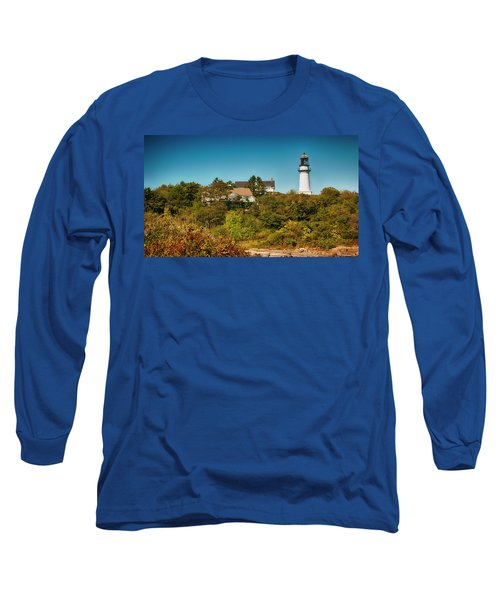 Cape Elizabeth Lighthouse Long Sleeve T-Shirt