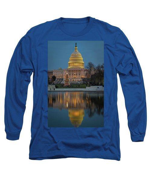 Capitol Reflection At Christmas Long Sleeve T-Shirt