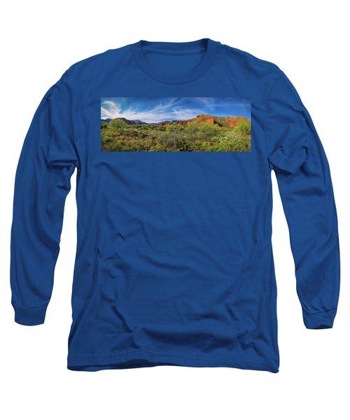 Caprock Canyon Panorama 2 Long Sleeve T-Shirt