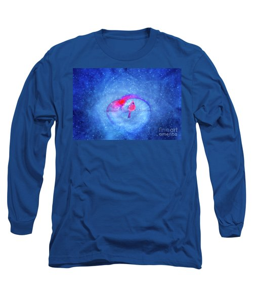 Cardinal In A Heart Long Sleeve T-Shirt