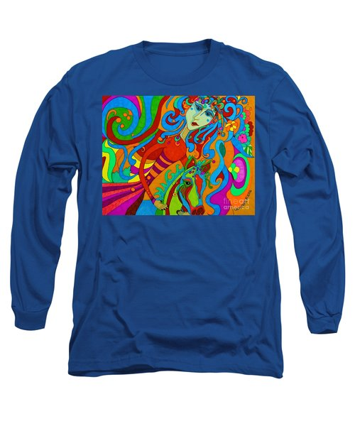 Long Sleeve T-Shirt featuring the painting Carousel Dance 2016 by Alison Caltrider