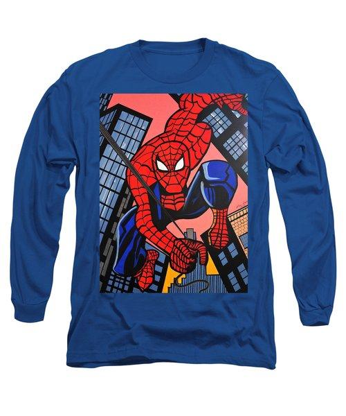 Cartoon Spiderman Long Sleeve T-Shirt