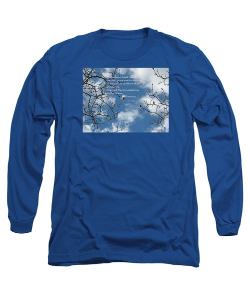 Castles In The Air Long Sleeve T-Shirt by Deborah Dendler