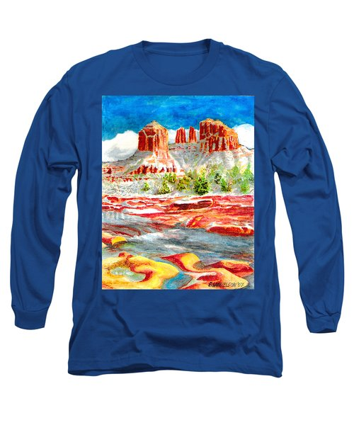 Cathedral Rock Crossing Long Sleeve T-Shirt by Eric Samuelson