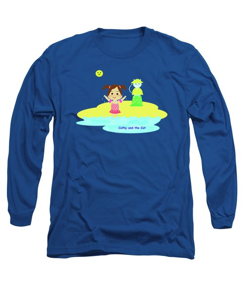 Cathy And The Cat And Fresh Water Long Sleeve T-Shirt