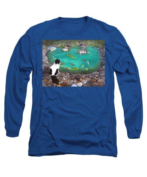 Cats And Koi Long Sleeve T-Shirt