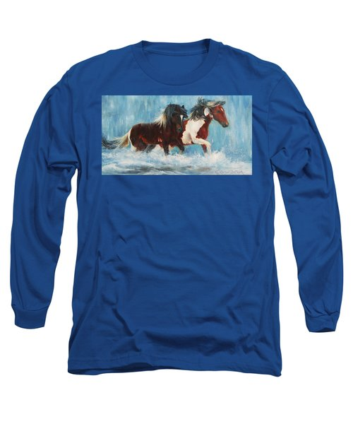 Caught In The Rain  Close Up Long Sleeve T-Shirt