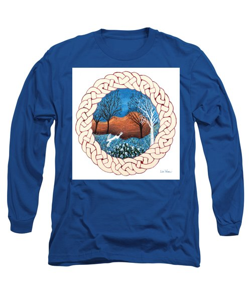 Celtic Knot With Bunny Long Sleeve T-Shirt by Lise Winne