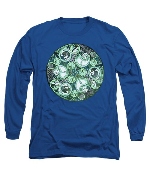 Celtic Stormy Sea Mandala Long Sleeve T-Shirt