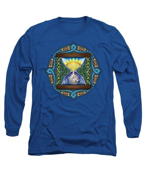 Celtic Sun Moon Hourglass Long Sleeve T-Shirt