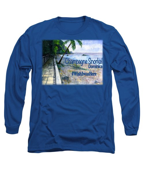 Champagne Snorkel Dominica Shirt Long Sleeve T-Shirt