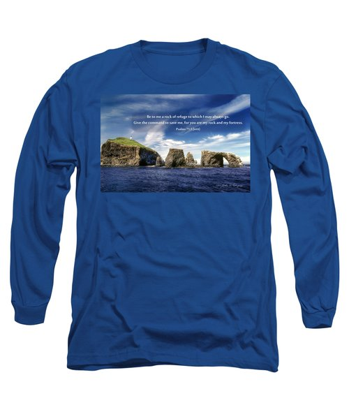 Channel Island National Park - Anacapa Island Arch With Bible Verse Long Sleeve T-Shirt