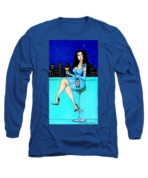 Charming Lady At Night Long Sleeve T-Shirt by Don Pedro De Gracia