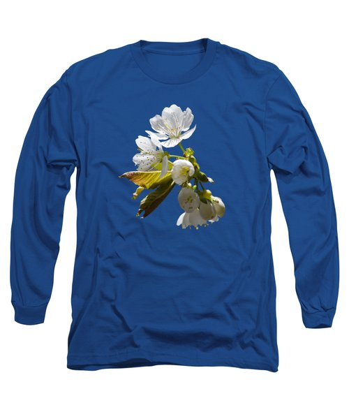 Cherry Blossoms Long Sleeve T-Shirt by Christina Rollo