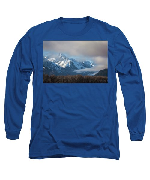 Chilkat Mountains With Clearing Fog Long Sleeve T-Shirt