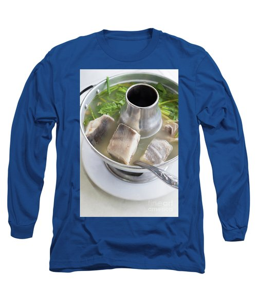 Long Sleeve T-Shirt featuring the photograph Chinese Silver Pomfret Soup by Atiketta Sangasaeng