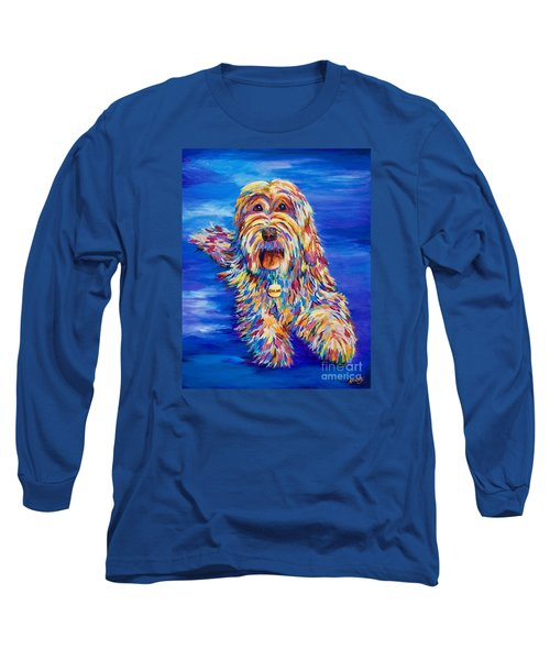 Long Sleeve T-Shirt featuring the painting Chloe by AnnaJo Vahle