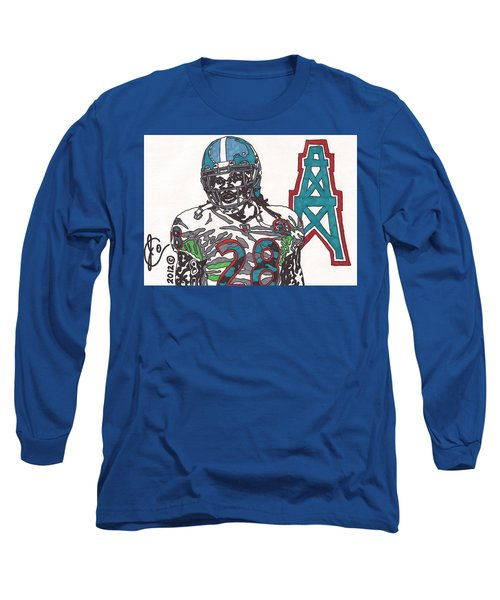 Chris Johnson  Long Sleeve T-Shirt by Jeremiah Colley