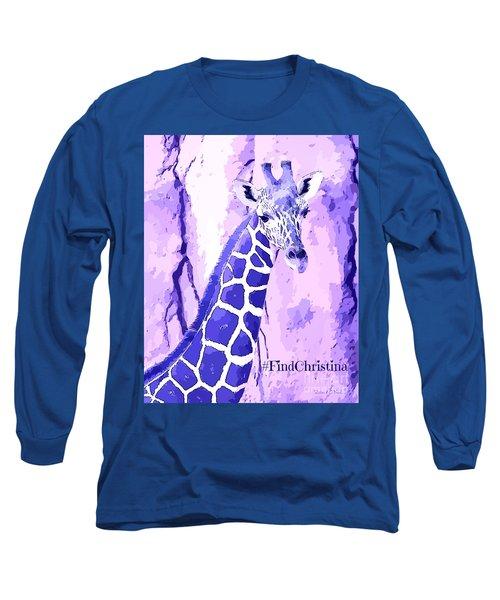 Christina's Giraffe Long Sleeve T-Shirt by Robert ONeil